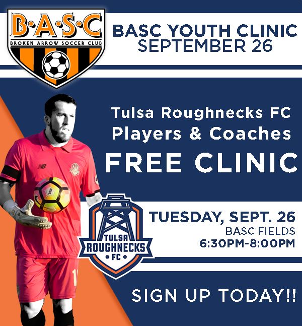 FREE Tulsa Roughnecks Soccer Clinic