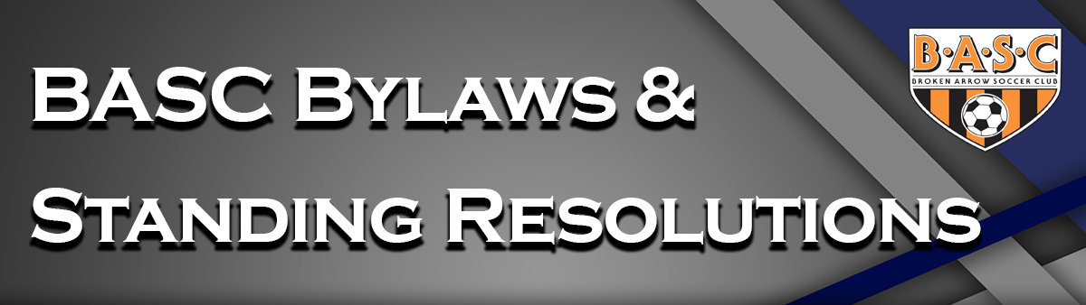 BASC Bylaws and Standing Resolutions