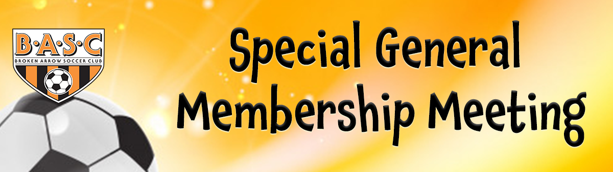 Special General Membership Meeting