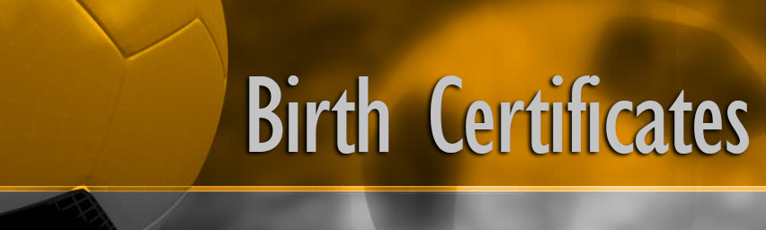 Birth Certificate Header