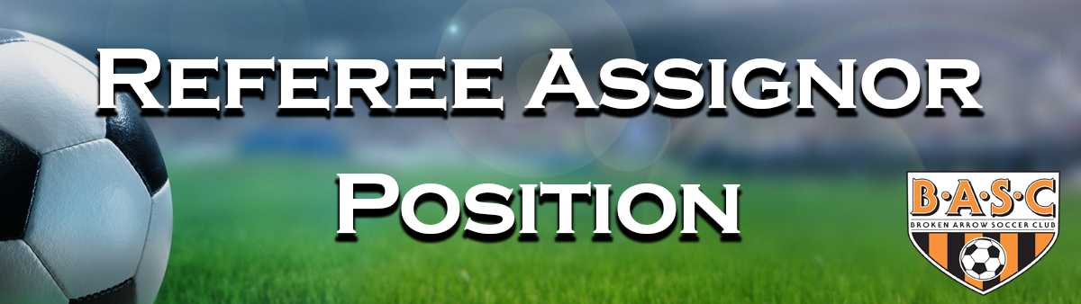 Now Hiring - Referee Assignor Position