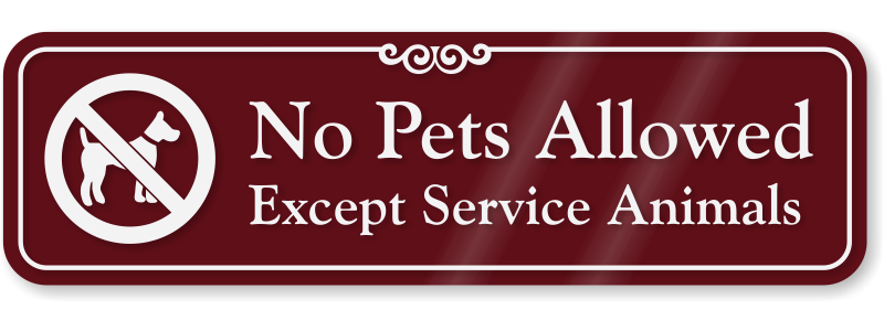 No Pet Policy at ISSC